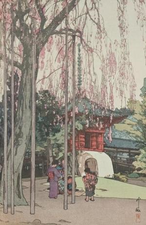 吉田博: The Cherry Tree in Kawagoe - Art Gallery of Greater Victoria