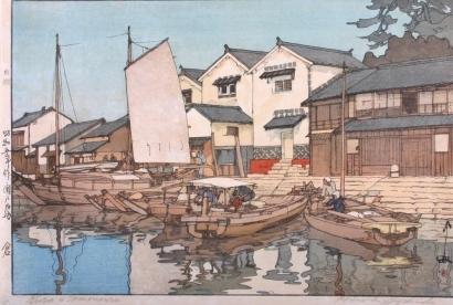 吉田博: Tomonoura Godowns - Art Gallery of Greater Victoria