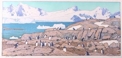吉田遠志: Gentoo Penguins - Art Gallery of Greater Victoria