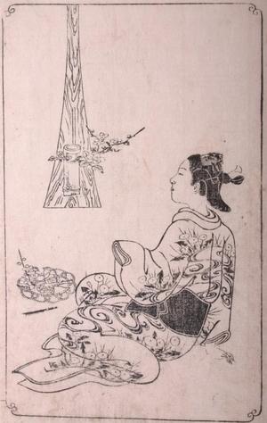 Nishikawa Sukenobu: Woman Viewing Ikebana - Art Gallery of Greater Victoria