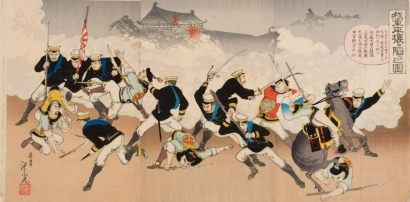 Kobayashi Toshimitsu: Japanese Army at the Fall of Pyongyang - Art Gallery of Greater Victoria