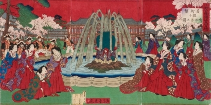 Kobayashi Toshimitsu: Fountain at Ueno Park - Art Gallery of Greater Victoria