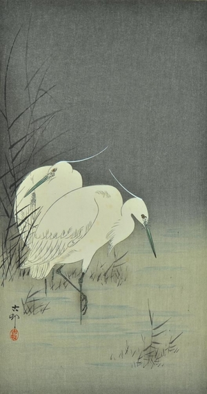Ohara Koson: Two Egrets at Night - Art Gallery of Greater Victoria
