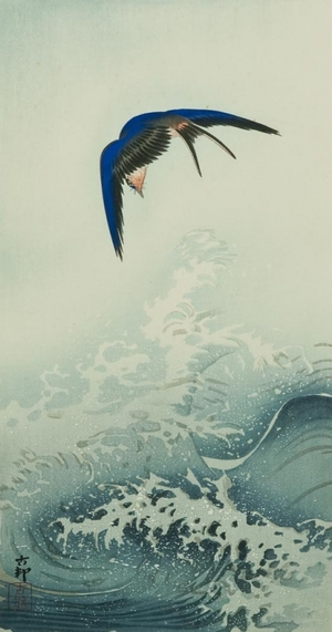 Ohara Koson: Swallow over the Ocean Wave - Art Gallery of Greater Victoria