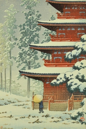 Kawase Hasui: Saishoin Temple in Snow, Hirosaki - Art Gallery of Greater Victoria