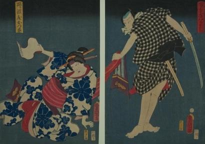 Utagawa Kunisada II: Murder Intent - Kabuki Theatre - Art Gallery of Greater Victoria