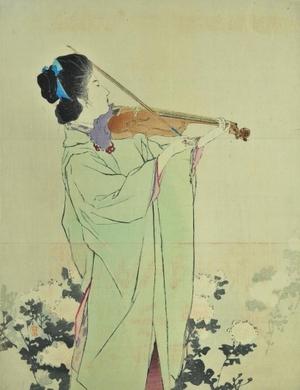 鏑木清方: Violin Player - Art Gallery of Greater Victoria