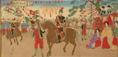 Watanabe Nobukazu: Celebration of Silver Wedding Anniversary, Viewing of Troops at Aoyama - Art Gallery of Greater Victoria