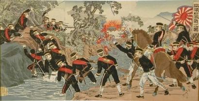 渡辺延一: Fierce Battle at Port Arthur - Art Gallery of Greater Victoria