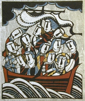 Watanabe Sadao: Christ and Disciples on Sea of Galilee(?) - Art Gallery of Greater Victoria