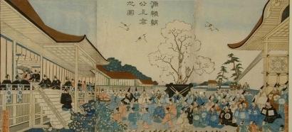 Utagawa Kunisato: Unification of Japan: Homage to Hideoshi - Art Gallery of Greater Victoria
