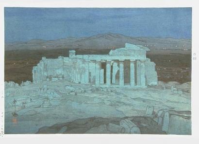 Yoshida Hiroshi: The Acropolis Ruins, Night - Art Gallery of Greater Victoria
