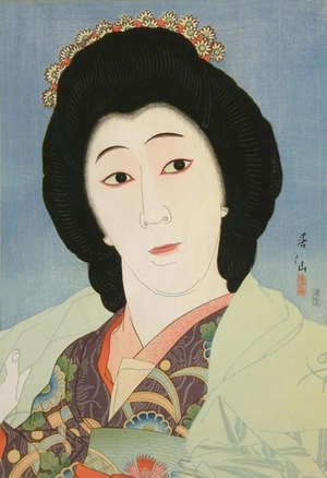 名取春仙: Onoye Baiko as Sayari - Art Gallery of Greater Victoria
