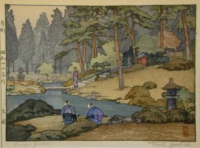 Yoshida Toshi: Linnoji Garden - Art Gallery of Greater Victoria
