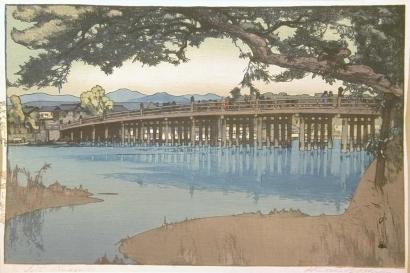 吉田博: Seta Bridge - Art Gallery of Greater Victoria