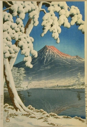 川瀬巴水: Mt. Fuji Clear After Snow, Tagonoura - Art Gallery of Greater Victoria