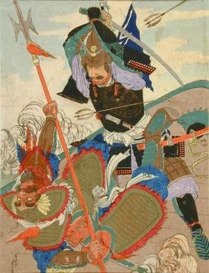Shuntei: Samurai Battling a Mongol Invader - Art Gallery of Greater Victoria