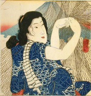 歌川国芳: Woman with Fishnet - Art Gallery of Greater Victoria