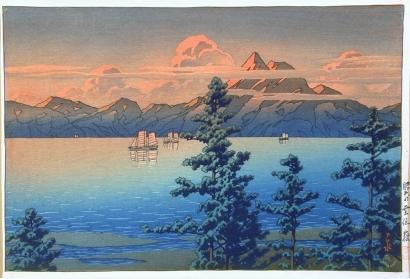 川瀬巴水: Unzen Peak, Hizen - Art Gallery of Greater Victoria