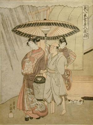 一筆斉文調: Night Rain in the Yoshiwara - Art Gallery of Greater Victoria