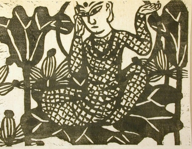 Munakata Shiko: Yakushi Nyorai (God of Medicine) - Art Gallery of Greater Victoria