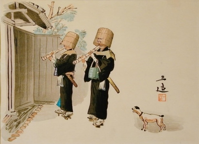 和田三造: Komuso (Itinerant Flute Player) - Art Gallery of Greater Victoria