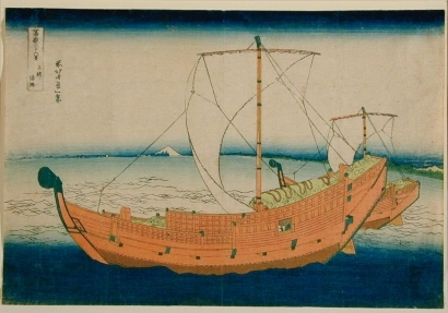 葛飾北斎: Fuji from the Sea off Kazusa #30 - Art Gallery of Greater Victoria