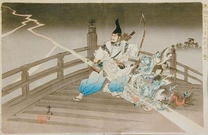 Adachi Ginko: Rescuing the Dragon Woman on Seta Bridge - Art Gallery of Greater Victoria