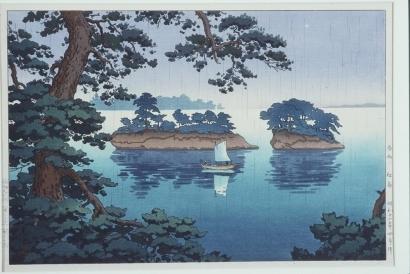 風光礼讃: Spring Rain at Matsushima - Art Gallery of Greater Victoria