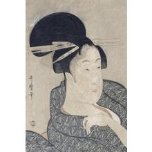 喜多川歌麿: Head of a Courtesan - Art Gallery of Greater Victoria