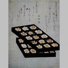 窪俊満: Surimono Flower Blossoms - Art Gallery of Greater Victoria