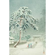 Kawase Hasui: Honmon Temple at Ikegami - Art Gallery of Greater Victoria