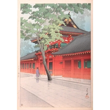 Kawase Hasui: Sano Shrine After the Rain - Art Gallery of Greater Victoria
