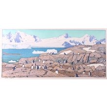 Yoshida Toshi: Gentoo Penguins - Art Gallery of Greater Victoria