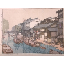 吉田博: Canal in Osaka - Art Gallery of Greater Victoria