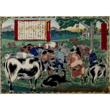 Utagawa Hiroshige III: Cattle Merchants - Art Gallery of Greater Victoria