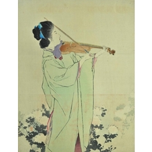 鏑木清方: Violin Player - Art Gallery of Greater Victoria