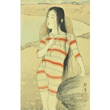 Tsukioka Kogyo: Beach Girl - Art Gallery of Greater Victoria