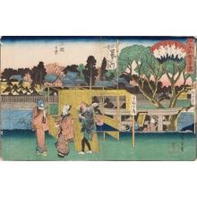 Utagawa Hiroshige: Yanagi Restaurant at Mikuni - Art Gallery of Greater Victoria