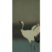 小原古邨: Two Cranes - Art Gallery of Greater Victoria