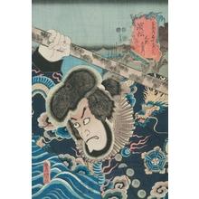 歌川国貞: Actor Ichikawa Ebizo (Danjuro VII) in role of the Pirate Kezori Kuemon - Art Gallery of Greater Victoria