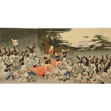 小林清親: Long Live Japan! Victory song at Pingyang - Art Gallery of Greater Victoria