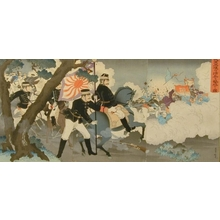 Adachi Ginko: Picture of our Armed Forces Defeating the Chinese Soldiers at Pyongyang - Art Gallery of Greater Victoria