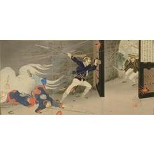水野年方: Brave Harada Jukichi Opens Gembu Gate at Pyongyang - Art Gallery of Greater Victoria