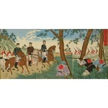 豊原周延: Qing Chinese Snipers Aiming at Japanese Commander - Art Gallery of Greater Victoria