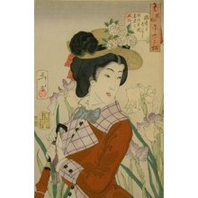 月岡芳年: Preparing to Take a Stroll: A Married Woman in the Meiji Period - Art Gallery of Greater Victoria