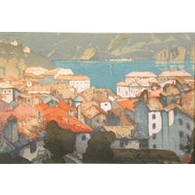 吉田博: The Town of Lugano - Art Gallery of Greater Victoria