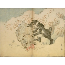Kawanabe Kyosai: Two Puppies in the Snow - Art Gallery of Greater Victoria