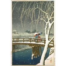 川瀬巴水: Late Snow Along Edo River - Art Gallery of Greater Victoria