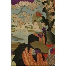 豊原周延: Empress Shoken in Western Dress and Bonnet - Art Gallery of Greater Victoria